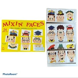 Vintage Unpunched Mixin' Faces game Tee Pee Toys